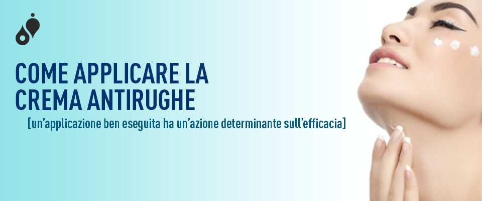 Come applicare la crema antirughe